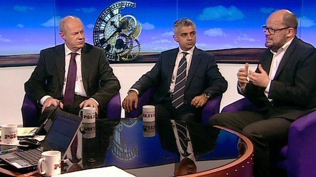 Damian Green, Sadiq Khan and Theo Blackwell