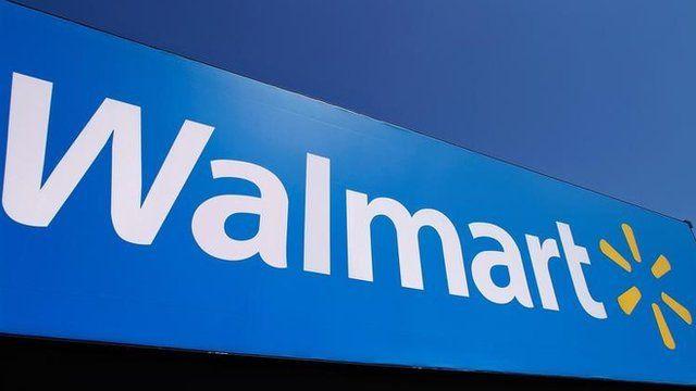 Wal-Mart logo on a shop