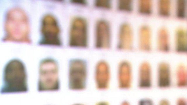 Wall of gang members