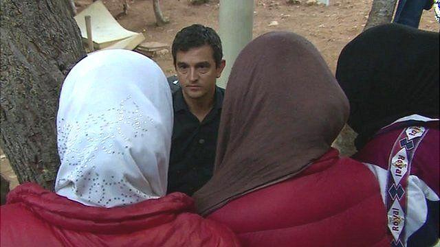 Sabah speaking to the BBC's Matthew Price in Lampedusa