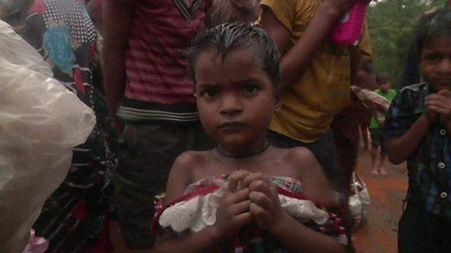 Child flees cyclone