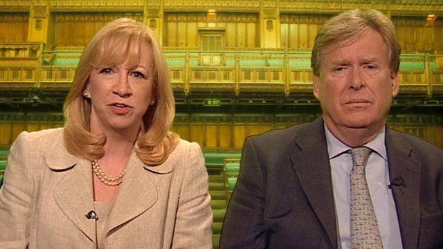 Eleanor Laing and Simon Burns