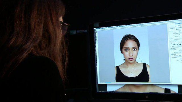 Sarah Brimley retouching Tulip Mazumdar