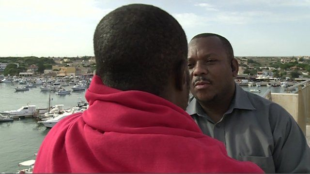 Nigerian migrant speaks to the BBC's Kasim Kayira