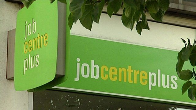 Job centre signs
