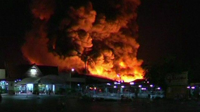 Phuket shopping complex on fire