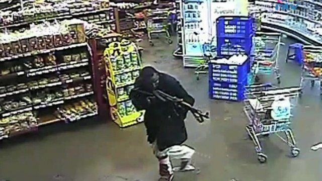 CCTV from the Westgate mall apparently showing Hassan Abdi Dhuhulow