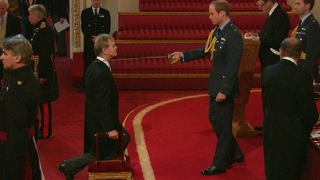 Prince William honours head teacher