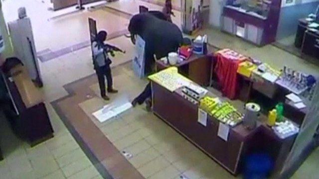 Gunman inside Westgate shopping mall