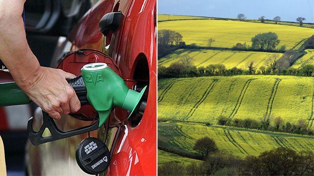Petrol pump, rural field
