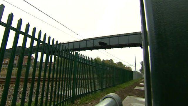 New footbridge near Bestwood Village