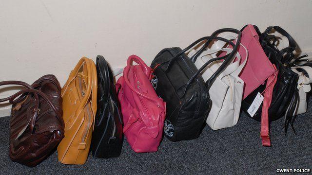 Stolen handbags