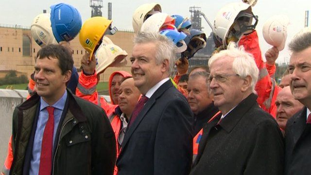 Carwyn Jones at opening of Harbour Way