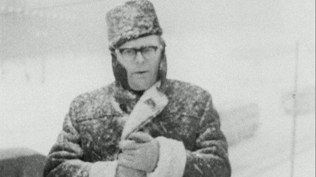 Erik de Mauny in snowstorm