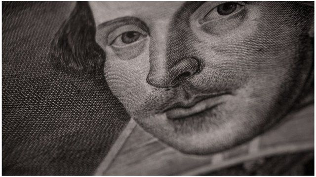 An engraving of William Shakespeare
