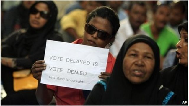 Maldives opposition protest over vote cancellation