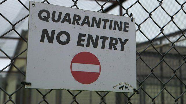 A quarantine sign