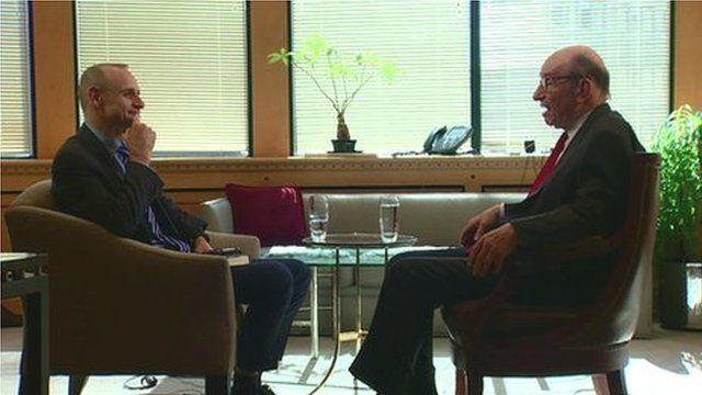 Evan Davis with Alan Greenspan