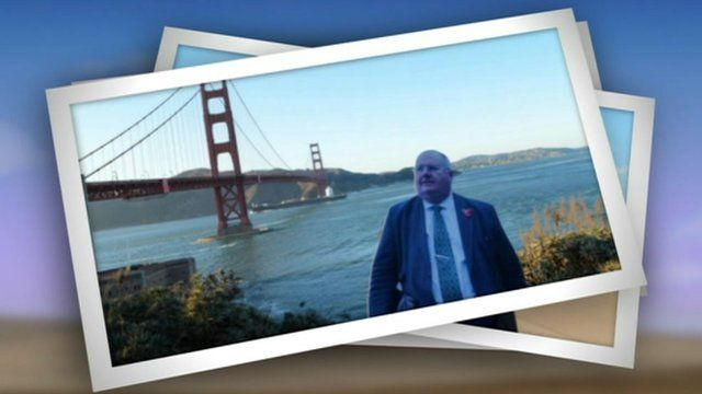 Eric Pickles cardboard cut-out in USA