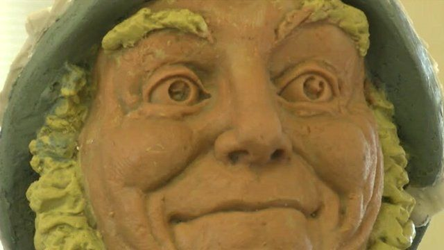 Jolly statue