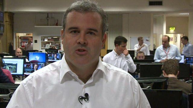 Robin Brant in BBC newsroom
