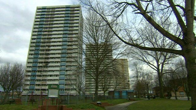High-rise flats