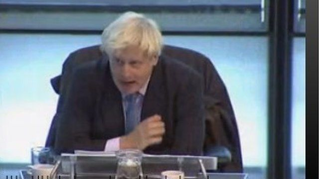 Boris Johnson during Mayor's Question Time