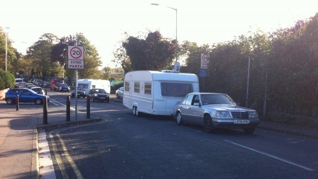 French travellers leave hospital car park