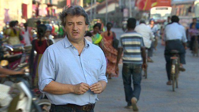 Fergal Keane in Sri Lanka