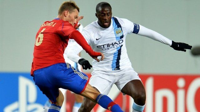 Yaya Toure in action against CSKA Moscow