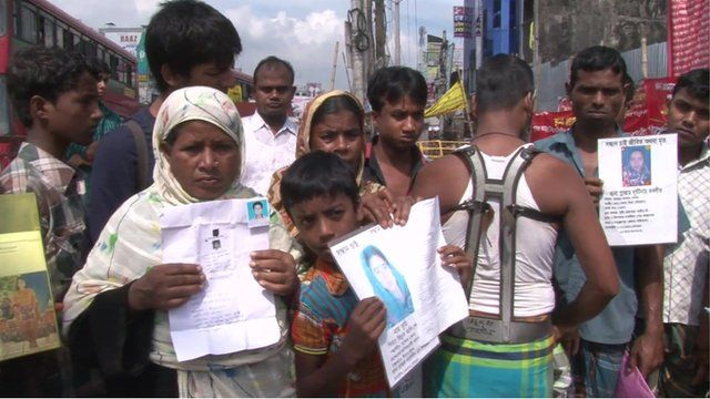 Victims of the Rana Plaza building collapse in Bangladesh commemorate their loved ones