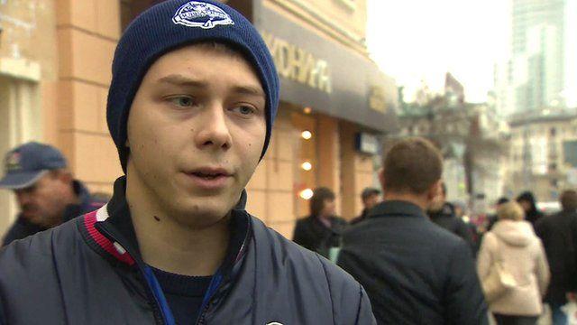 Moscow football fan Alexander