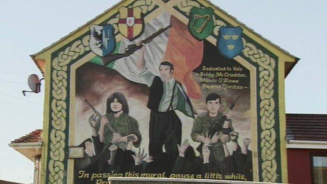 A republican mural in Belfast