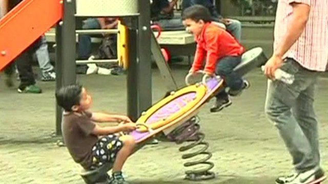Children playing in playground