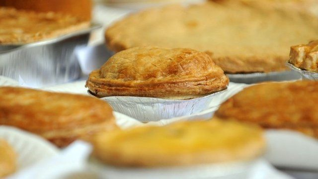 A selection of pies and pasties