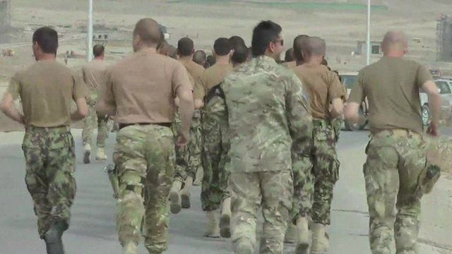 Soldiers in Kabul