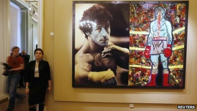 Sylvester Stallone artwork on show in Russia