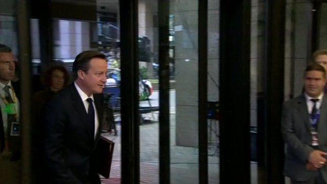 David Cameron arrives at EU summit