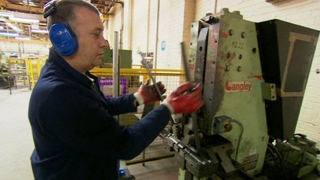 Worker in Remploy factory