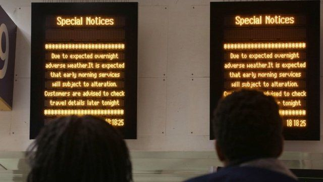 Notice boards at Euston