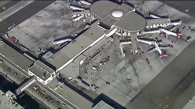 Aerial view of Los Angeles airport
