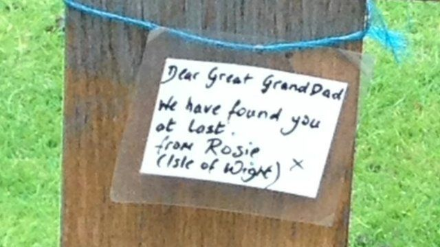 Mystery note left on a WW1 grave on Jersey
