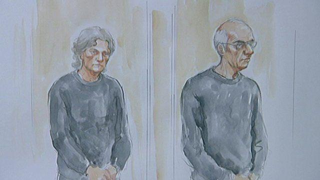 Court sketch of Susan Edwards and husband Christopher Edwards
