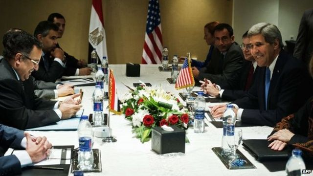 John Kerry begins Mid East tour with stop in Egypt