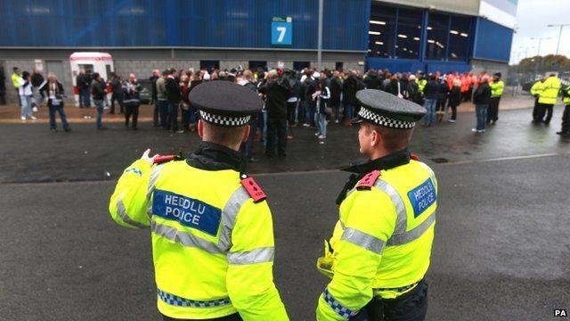 Police at stadium