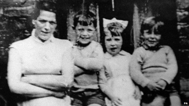 Jean McConville with three of her children before she vanished in 1972