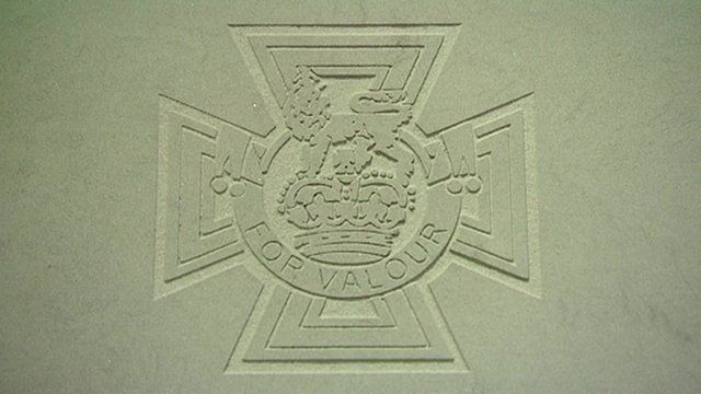 Victoria Cross paving stone