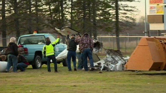Skydiving plane wreckage