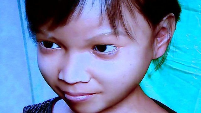 Image of computer generated 10-year-old girl called 'Sweetie'
