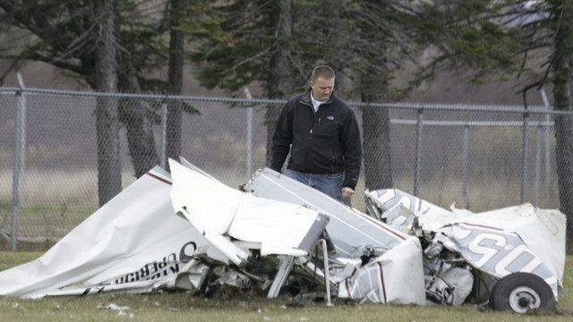 Wreckage of one of the planes